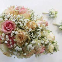 Līgavas pušķis un piespraude